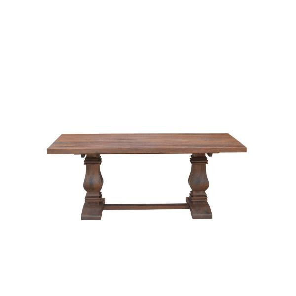 Home Decorators Collection Aldridge Antique Walnut Rectangular Dining Table NB-063AW