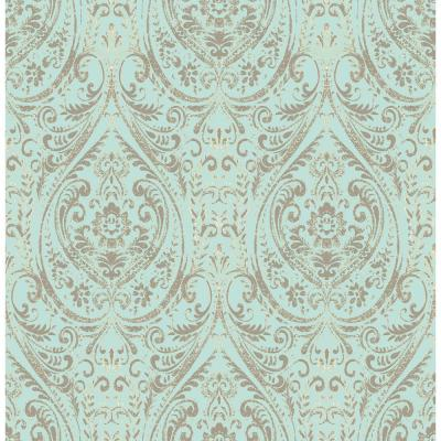 Damask Peel Stick Yes Wallpaper Home Decor The Home Depot