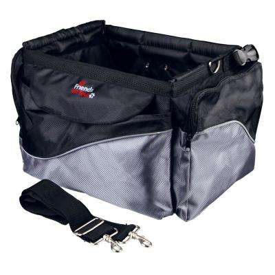Pet Carrier for Bicycle Front Attach with Shoulder Strap Front-Box in Black/Gray