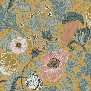 Anemone Mustard Floral Paper Strippable Roll (Covers 56.4 sq. ft.)