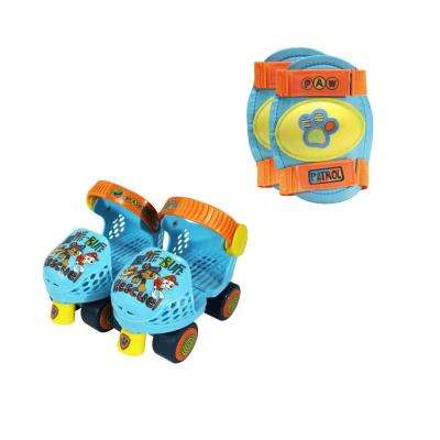 Paw Patrol Junior Size 6-12 Roller Skates with Knee Pads