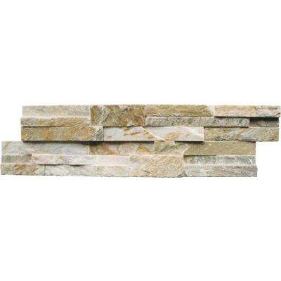 Nevada Gold Ledger Panel 6 in. x 24 in. Natural Quartzite Wall Tile (10 cases / 60 sq. ft. / pallet)