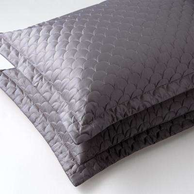 Charcoal Queen Quilted Pillow Sham