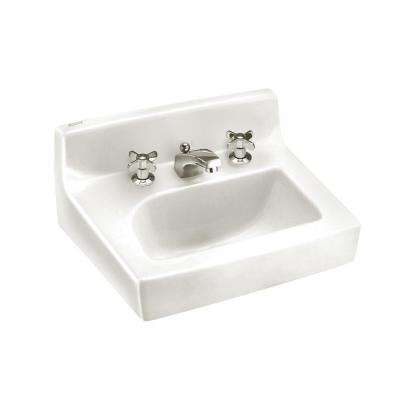 Penlyn Wall-Mount Bathroom Sink in White