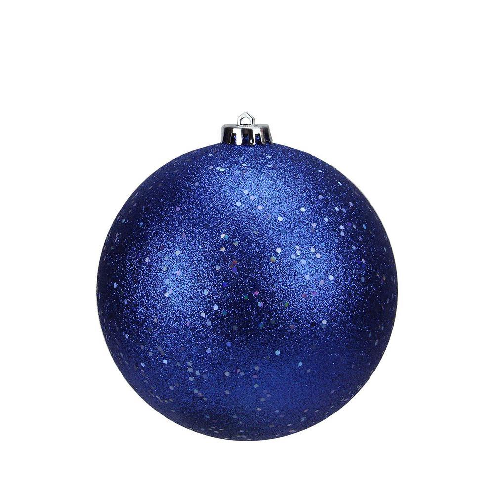 northlight shatterproof lavish blue holographic glitter christmas ball ornament