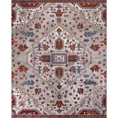 Talya Ivory/Red 8 ft. x 10 ft. Medallion Area Rug