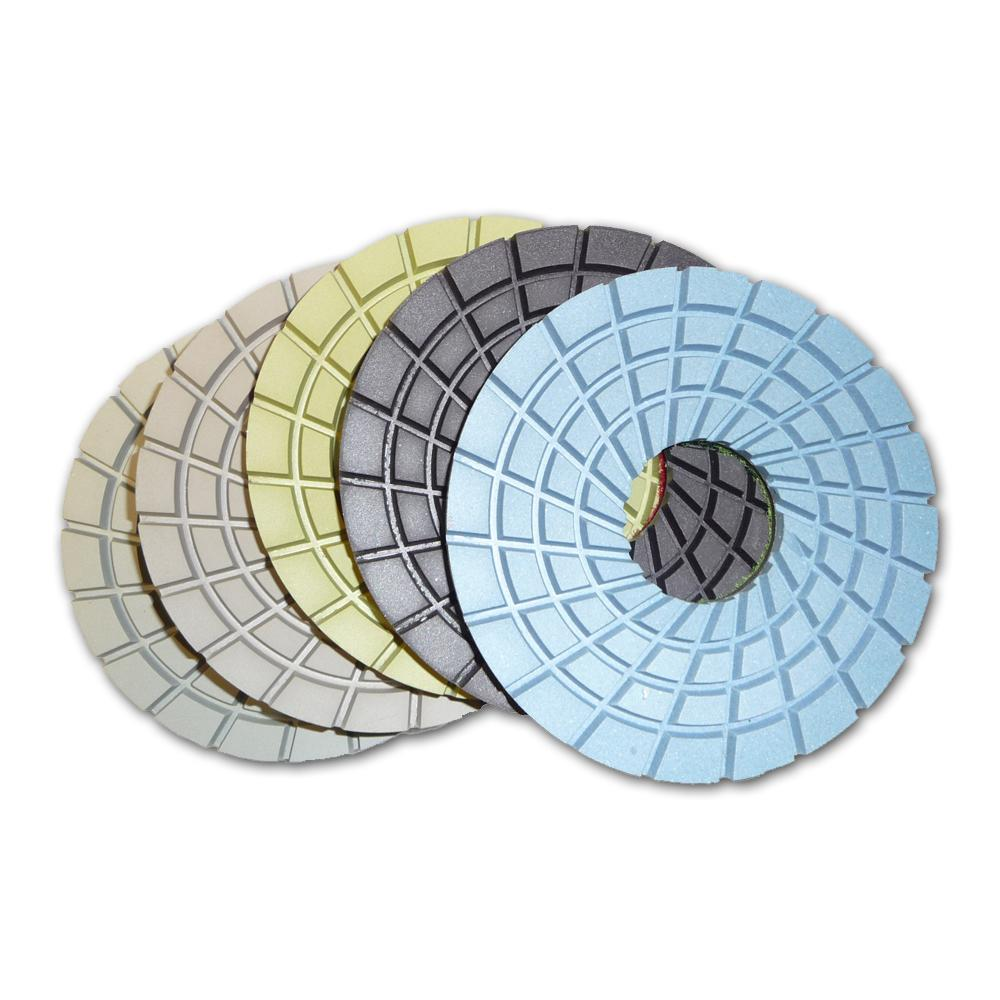 5 in. Con-Shine Dry Diamond Polishing Pads 5-Step Step Set of