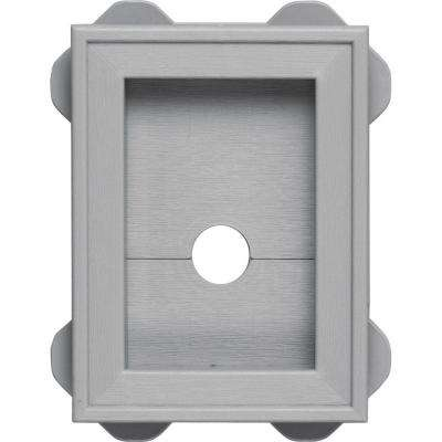 5 in. x 6.75 in. #016 Gray Wrap Around Mounting Block