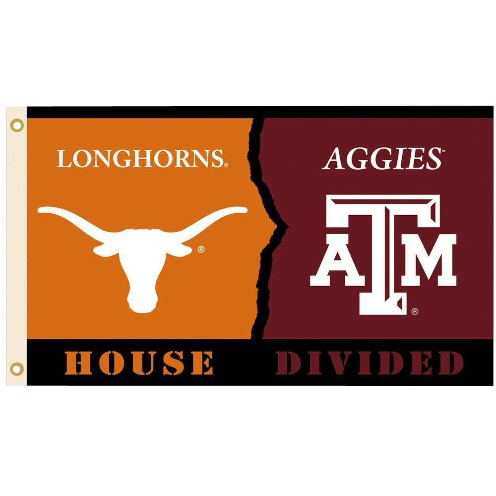 Ncaa 3 ft. x 5 ft. Texas/Texas A & M Rivalry House Divided Flag