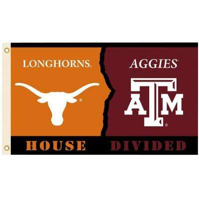 NCAA 3 ft. x 5 ft. Texas/Texas A&M Rivalry House Divided Flag