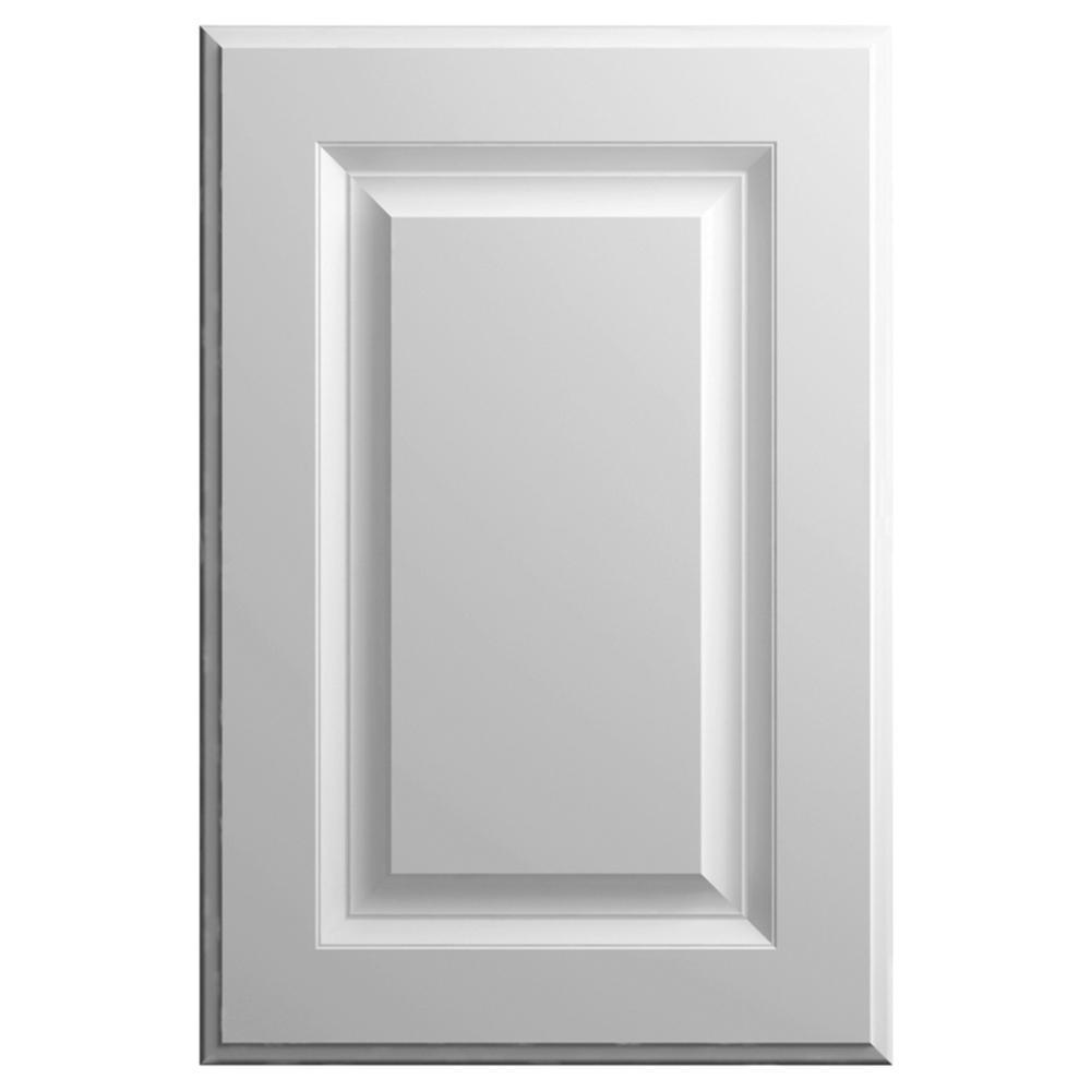 11x15 in. Elgin Cabinet Door Sample in Matte White