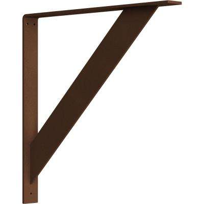 2 in. x 20 in. x 20 in. Steel Hammered Copper Traditional Bracket