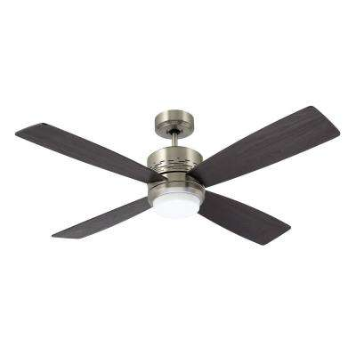 Highrise 50 in. LED Brushed Steel Ceiling Fan