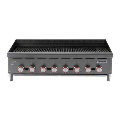Commercial 48 in. Counter Top Radiant Charbroiler