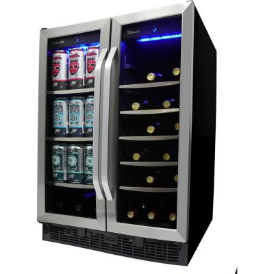 Dual Zone 23.81 in. Wide Built-in Beverage Center in Stainless Steel