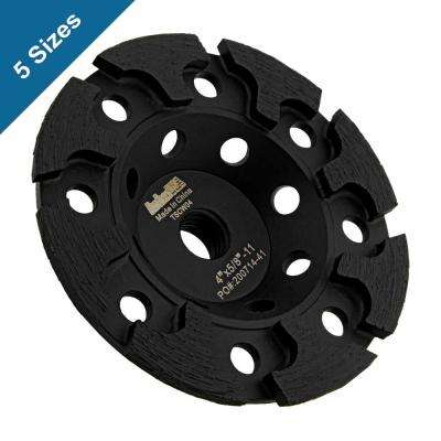 5/8 in. -11 Thread T-Segmented Diamond Grinding Cup Wheel 5 in. for Concrete Grinding