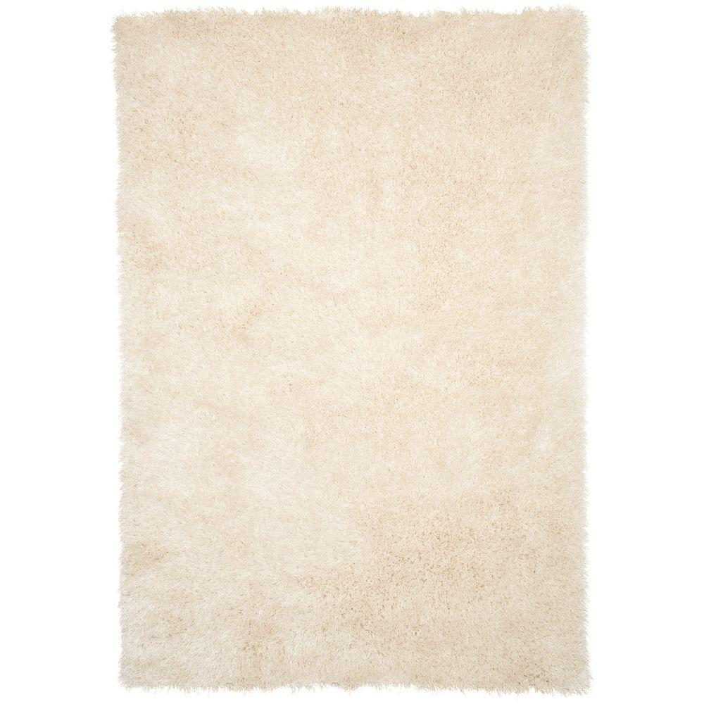 Shag Beige 3 ft. 3 in. x 5 ft. Area Rug