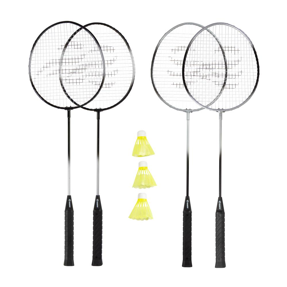 NEW 2 PLAYER METAL BADMINTON SET RACKETS SHUTTLECOCK OUTDOOR GARDEN GAME FAMILY