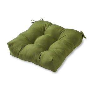 Solid Summerside Green Square Tufted Outdoor Seat Cushion