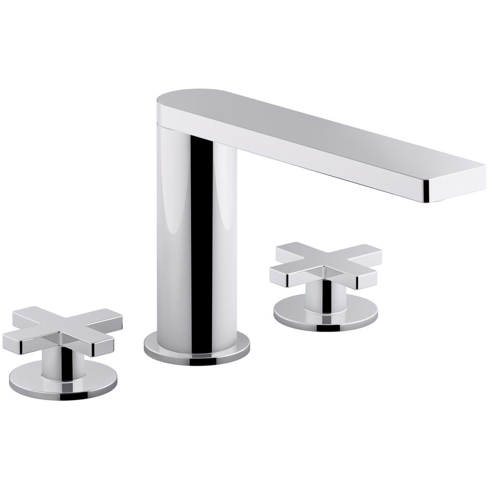 Wonderful Widespread 2 Handle Cross Handle Bathroom Faucet With Drain In