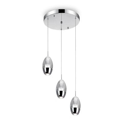 Perrier 3-Light Chrome Pendant