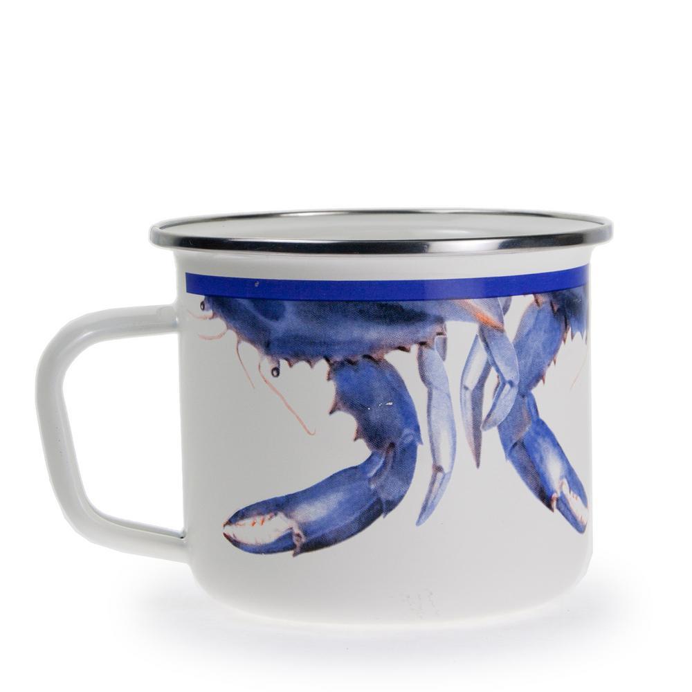 Blue Crab 24 oz. Enamelware Grande Mug