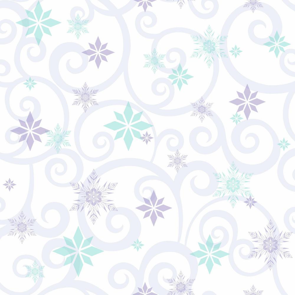 york wallcoverings disney kids iii disney frozen snowflake scroll