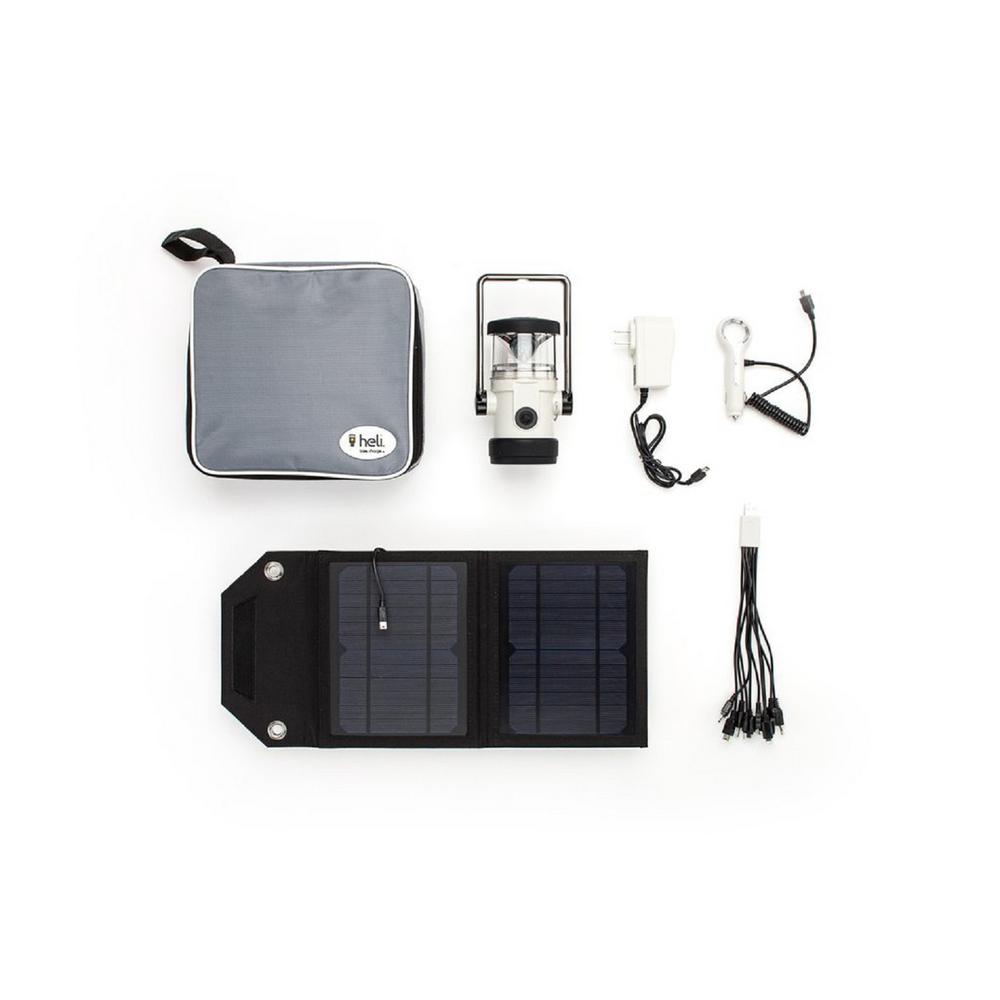Heli 2200 Kit AC Wall Adapter/10-in-1/DC Car Charger/Carrying Case/7Watt Solar