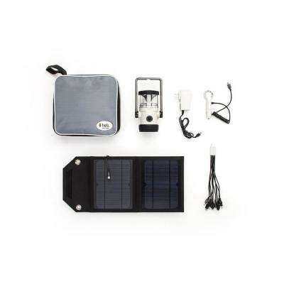 Heli 2200 Kit AC Wall Adapter/10-in-1/DC Car Charger/Carrying Case/7Watt Solar Panel LED Rechargeable Lantern in Lt.Gray