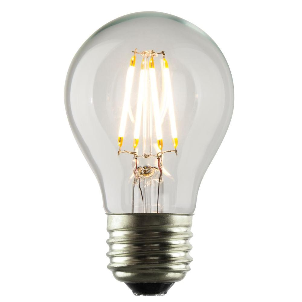 luminance 35w equivalent 2700k a17 dimmable led filament bulbl7590 the home depot