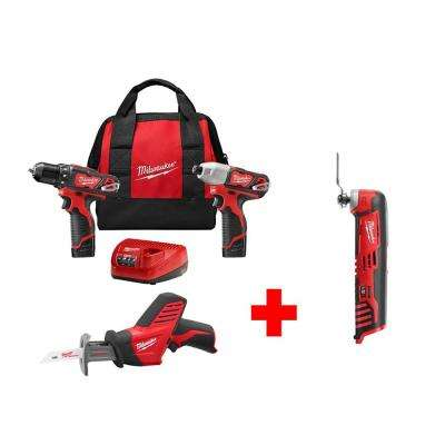 M12 12-Volt Lithium-Ion Cordless Combo Kit (3-Tool) with Free M12 Multi-Tool