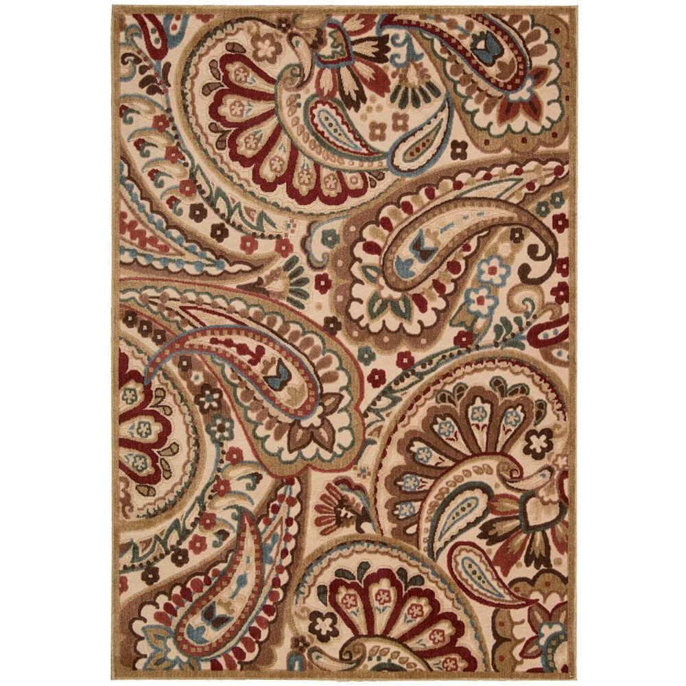 Nourison Graphic Illusions Light Multicolor 5 ft. 3 in. x 7 ft. 5 in. Area Rug