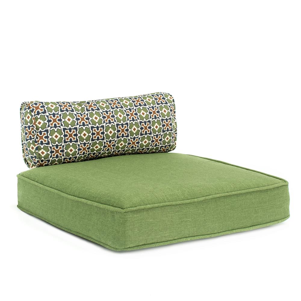 Hampton Bay Fall River Moss Replacement Outdoor Motion High Dining Chair Cushion