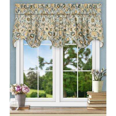 Adelle 17 in. L Cotton Lined Scallop Valance in Nile