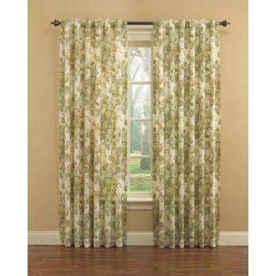 Spring Bling Window Curtain Panel in Platinum - 52 in. W x 63 in. L