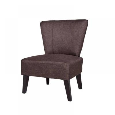 Alice Contemporary Fabric Upholstered Accent Chair, Brown