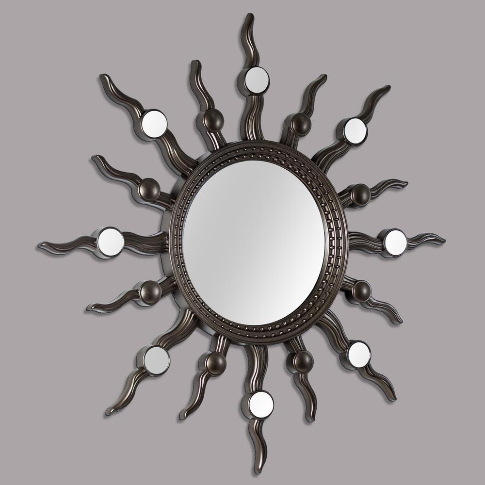 Celestial Sunburst Gold Mirror Set