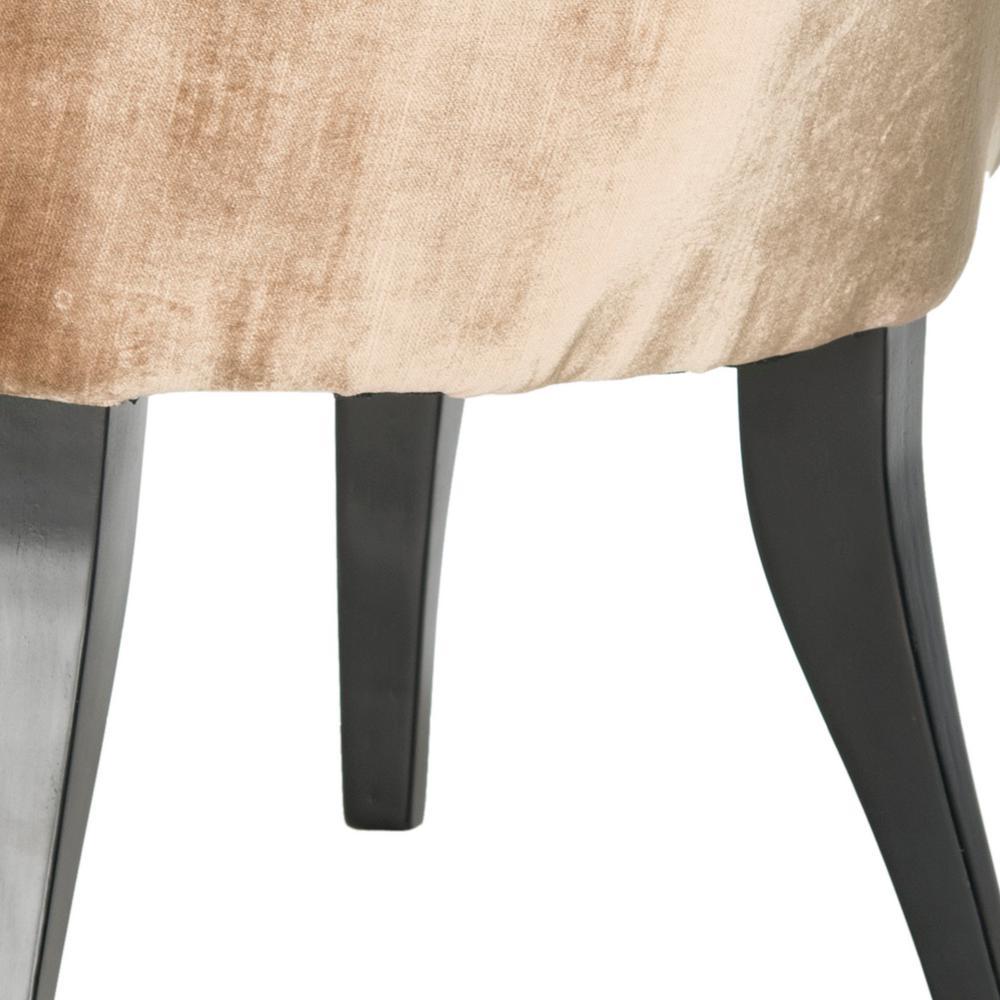 Awe Inspiring Safavieh Mora Mink Brown Cotton Viscose Vanity Chair Gamerscity Chair Design For Home Gamerscityorg