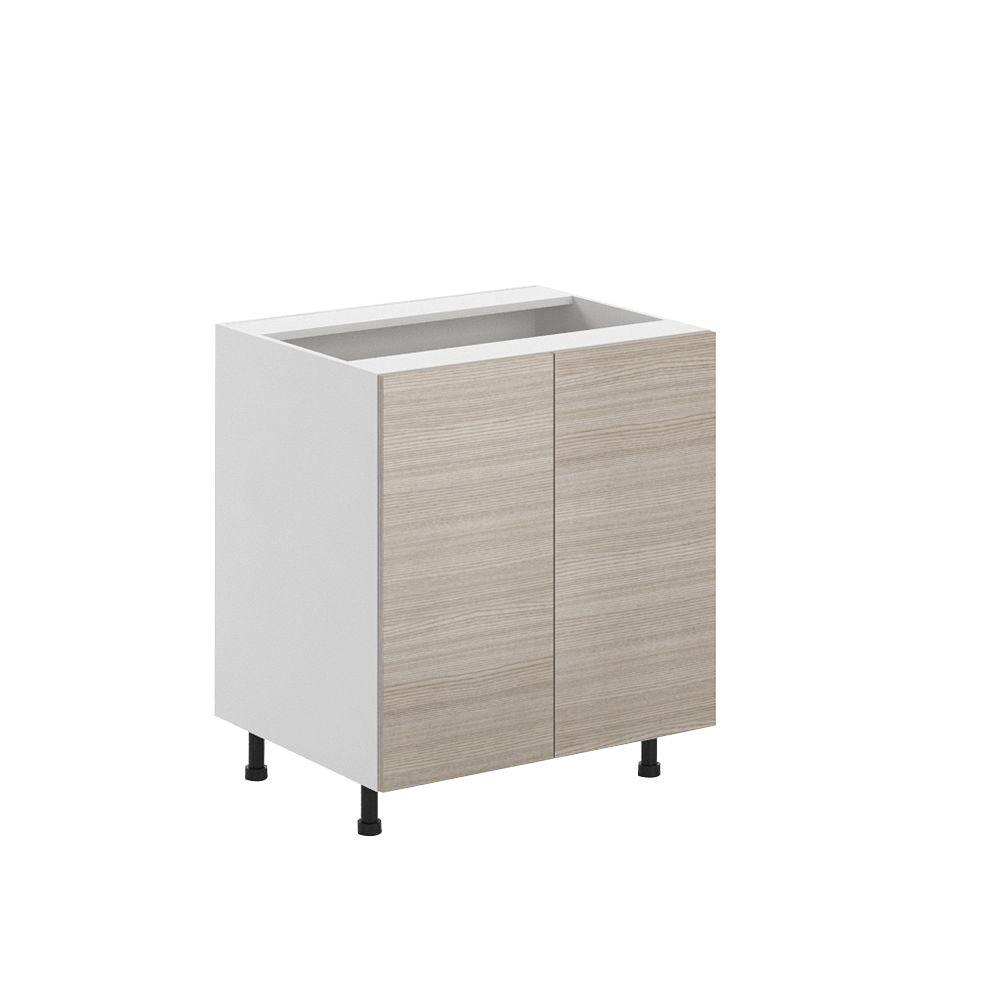 Fabritec Ready To Assemble 30x34.5x24.5 In. Geneva Full Height Base Cabinet In White Melamine