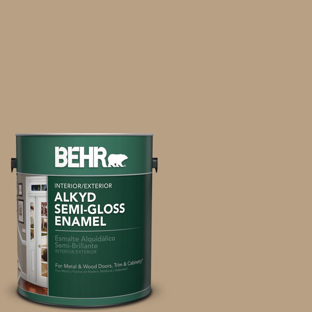 1 gal. #HDC-AC-12 Craft Brown Semi-Gloss Enamel Alkyd Interior/Exterior Paint
