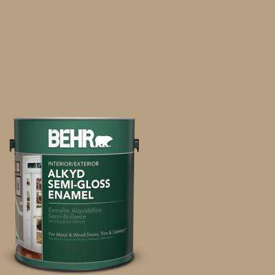 1 gal. Home Decorators Collection #HDC-AC-12 Craft Brown Semi-Gloss Enamel Alkyd Interior/Exterior Paint