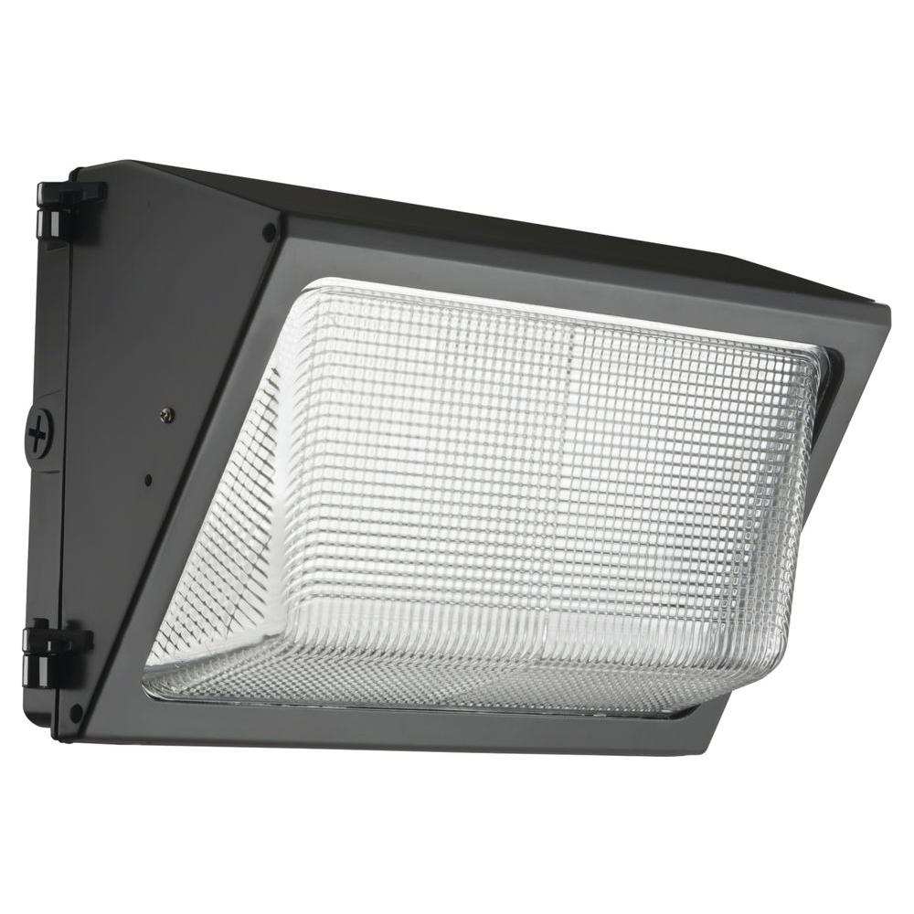 Lithonia Lighting TWR1 LED Small Bronze Outdoor Integrated LED Wall Pack Light Dusk to Dawn Photocell