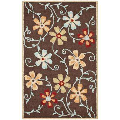 Blossom Brown/Multi 8 ft. x 10 ft. Area Rug