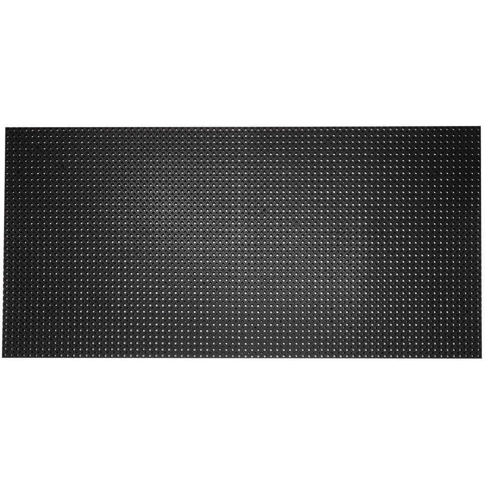 Octo Flow Sturdy Rubber Anti-Fatigue Drainage Floor Mat 40 in. x