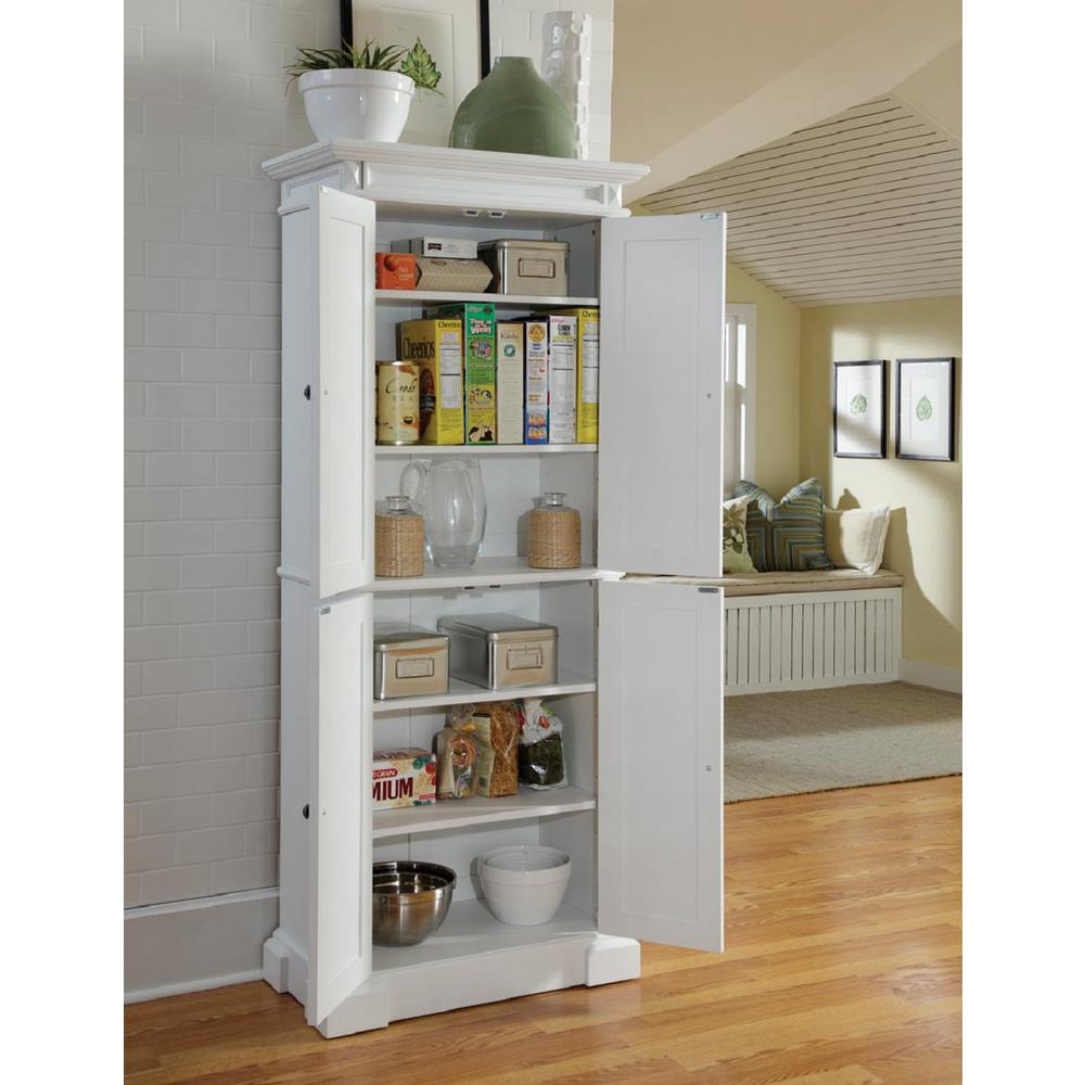 kitchen pantry storage cabinet Home Styles Americana Pantry in White 5004 692   The Home Depot kitchen pantry storage cabinet