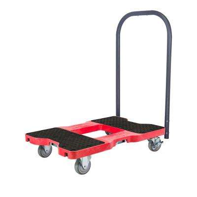 1500 lb. Capacity Industrial Strength Professional E-Track Push Cart Dolly in Red