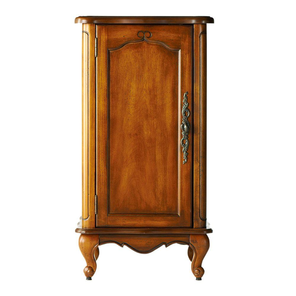 Home Decorators Collection Provence 18 In W Floor Cabinet In Chestnut 1113100970 The Home Depot