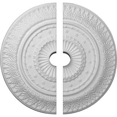 26-5/8 in. O.D. x 3-1/2 in. I.D. x 2-1/4 in. P Christopher Ceiling Medallion (2-Piece)