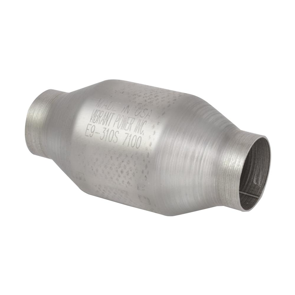 7b0c44899d Universal Metal Core Race Catalytic Converter (Round Body) 2.5in  inlet outlet