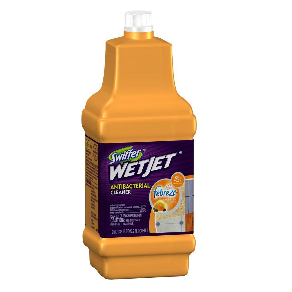 Swiffer WetJet 42 oz. Antibacterial Floor Cleaner Refill with Febreze Citrus and Light Scent
